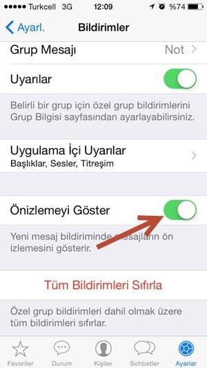 iphone 8 Plus whatsapp önizleme açılmıyor