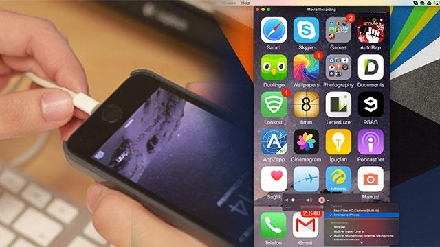 iphone ekran videosu kaydetme
