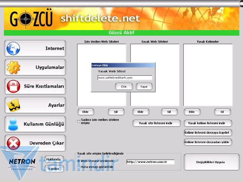 ebeveyn kontrol windows 7