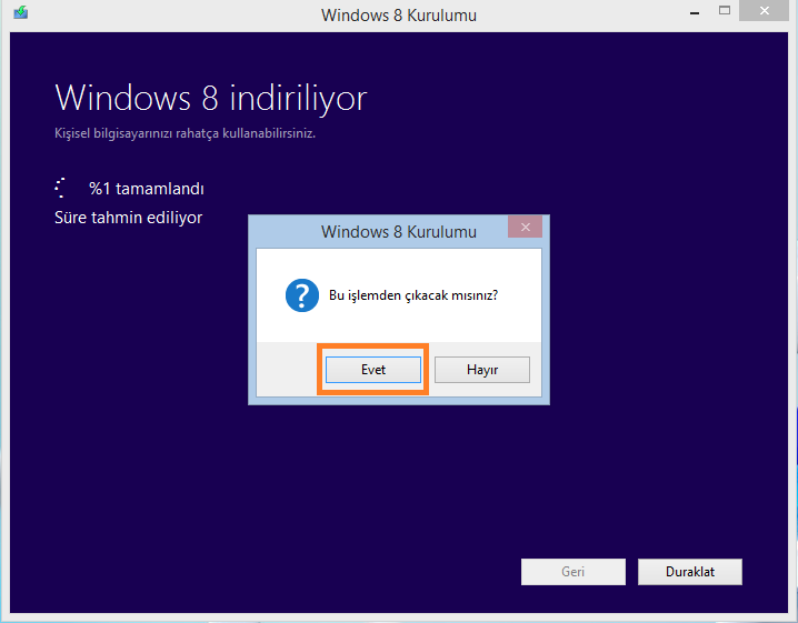 Windows 7 windows 8 yükseltme