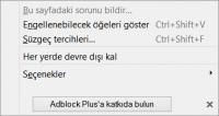 Adblock Plus Menü