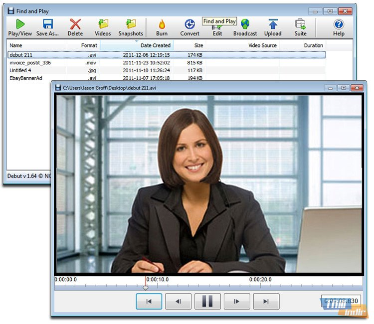nch debut video capture software pro 1.82