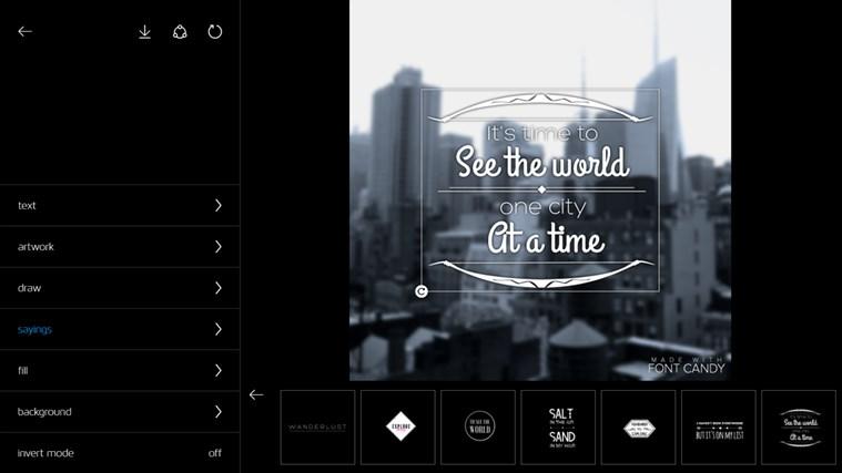 Font Candy Indir Windows 81 Için Resme Yazı Yazma Uygulaması