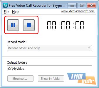 Skypea video nasıl kaydedilir Yararlı program Skype için Ücretsiz Video Çağrı Kaydedici
