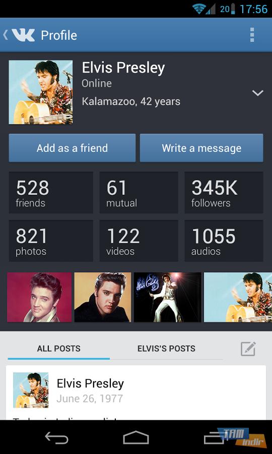 Popüler sosyal ağ uygulamaları arasında gösterilen vkontakte
