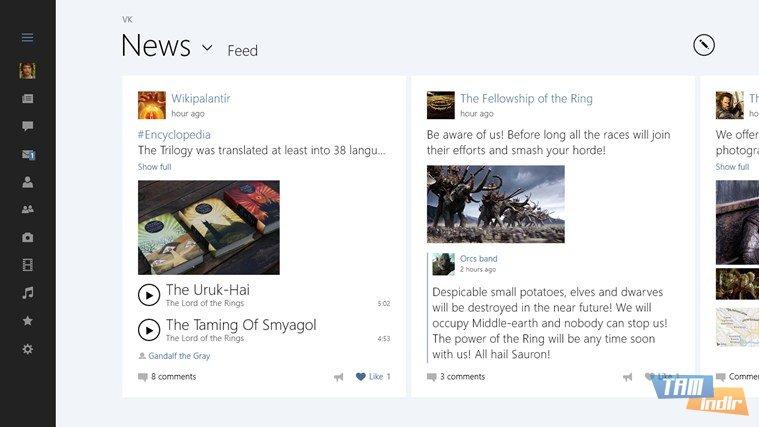 Sosyal ağ platformudur resmi windows 8 uygulaması ile sosyal ağın