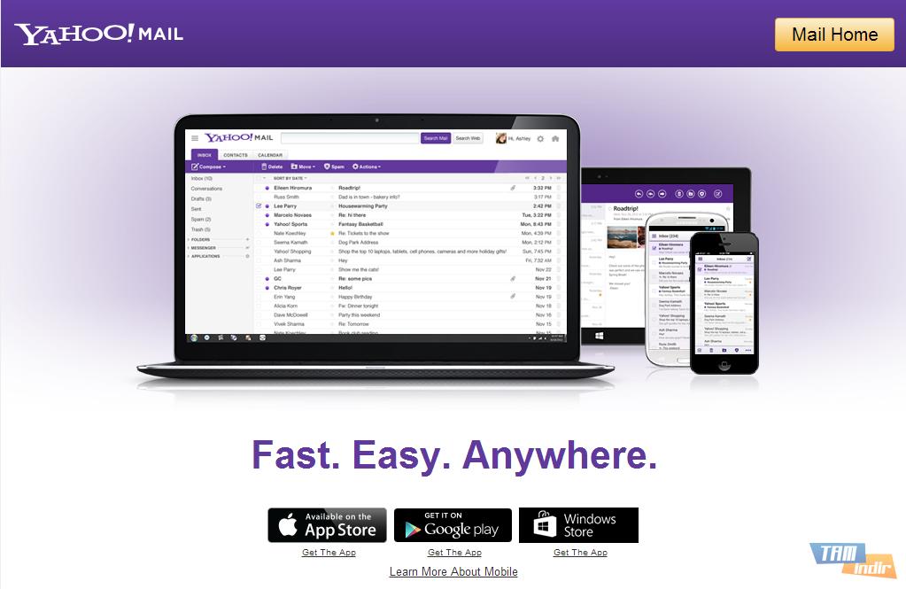 Yahoo! ID ve şifrenizi girerek Yahoo! Mail'in yeni arayüzüne ...