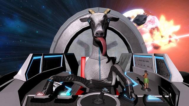 Goat Simulator Waste of Space, uzayda geçen keçi simülasyon oyunu.
