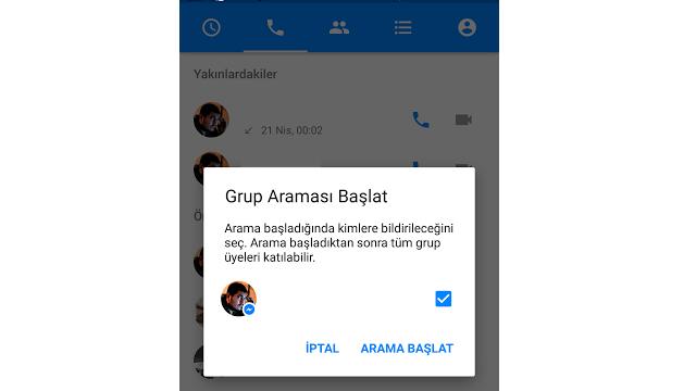 Facebook Messenger ile sesli görüşme yapmak