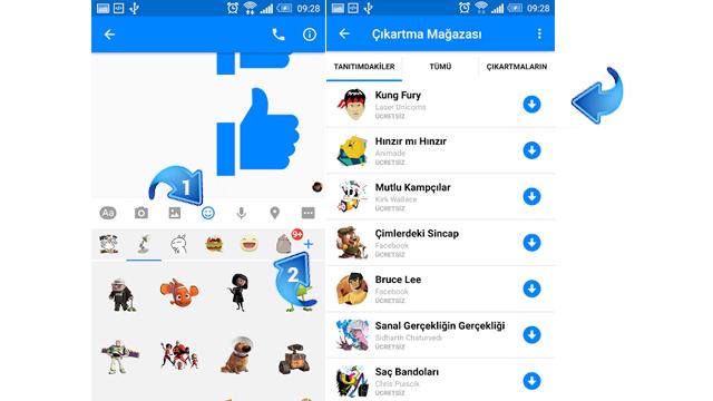 Facebook Messenger'a daha fazla çıkartma eklemek