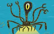 Şirin ve Yumuşak Robot Octobot Çalışırken Biraz Gaz Çıkarıyor