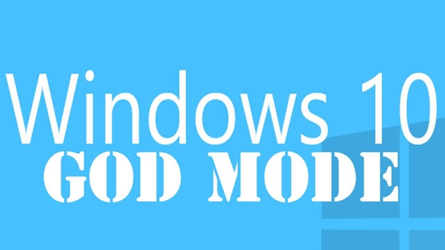 Windows 10'da God Mode nasıl kullanılır