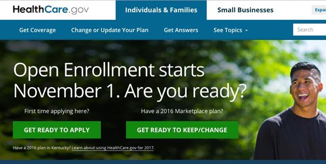 Healthcare.gov web