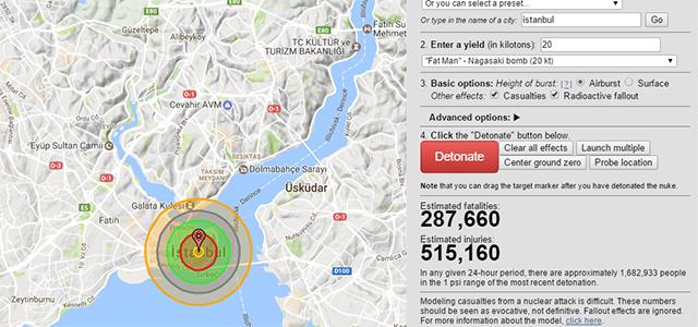 istanbul Hiroşima karşılaştırması