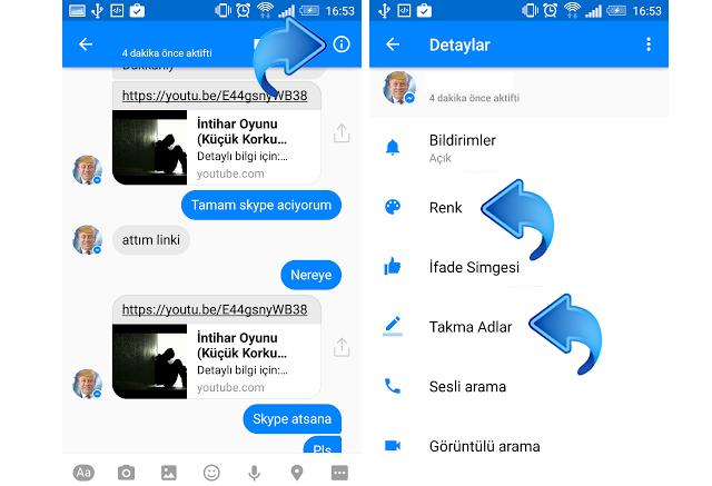 Facebook Messenger'da arkadaşlarınıza takma isimler takın ya da renk değiştirin