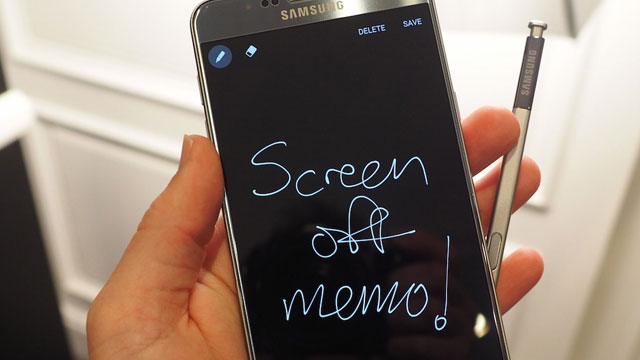 Screen off note pad