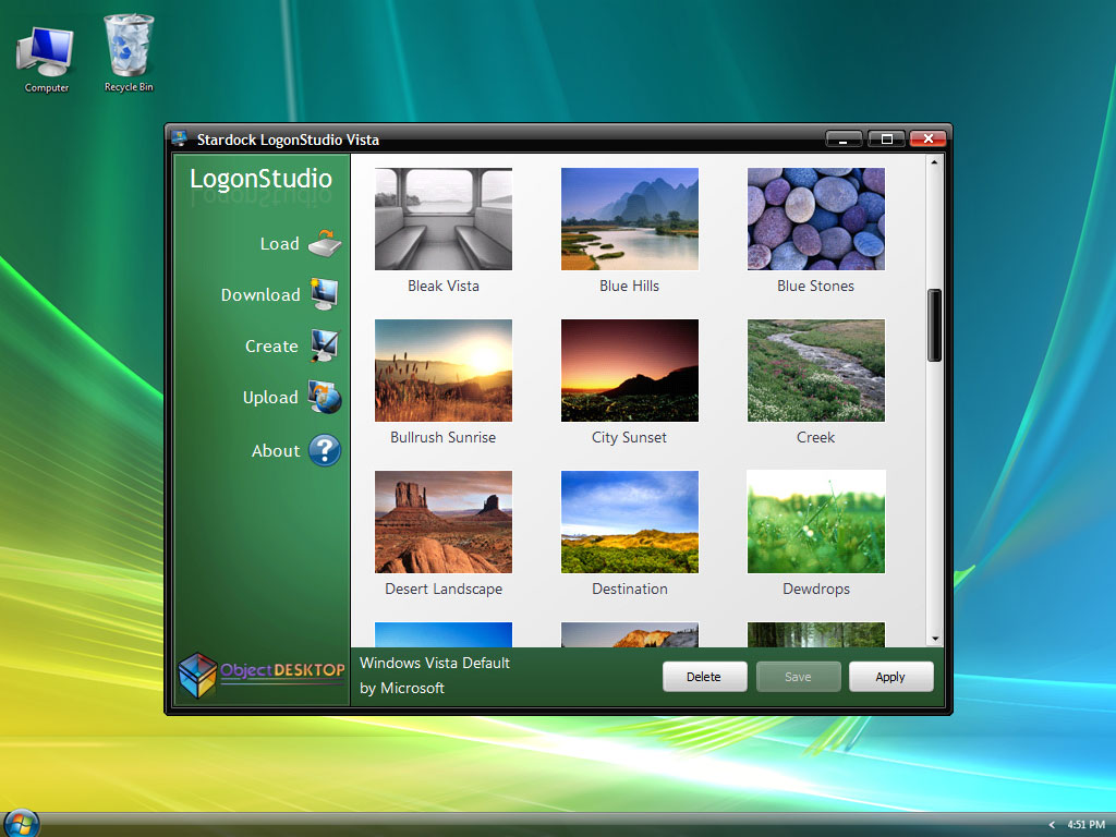 LogonStudio with Windows 7