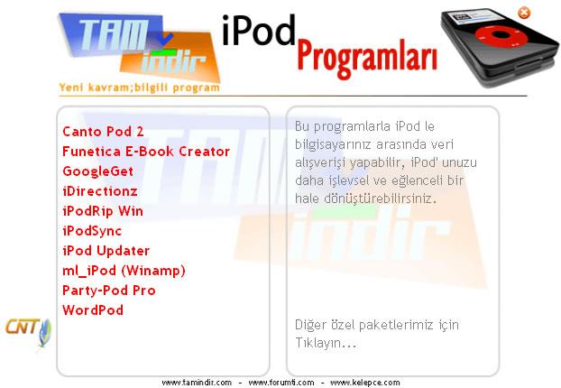 iPod Programlar Paketi
