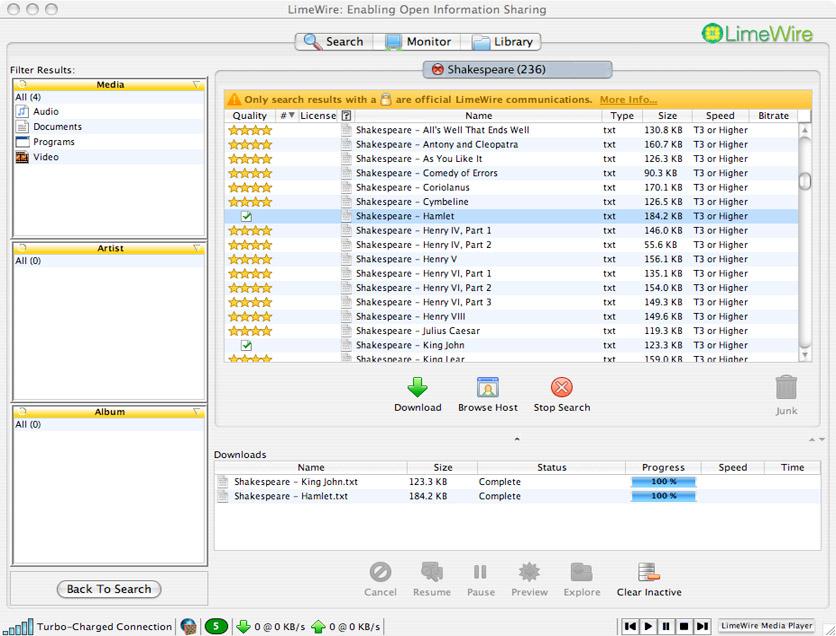 Limewire - Free downloads and reviews - CNET Downloadcom