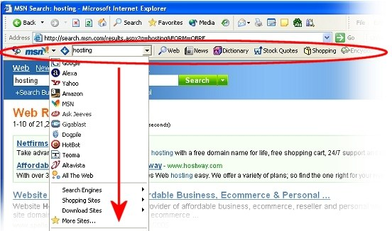 MSN Search Toolbar With Windows Desktop Search 02.05.0000