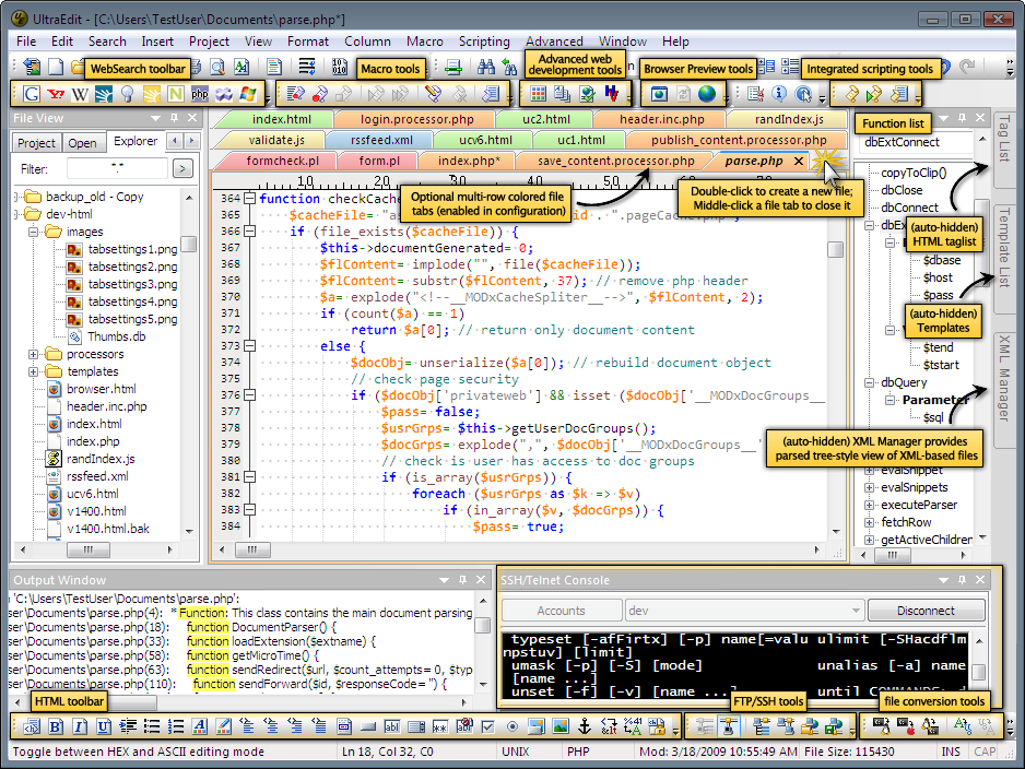 PHP HTML Editor