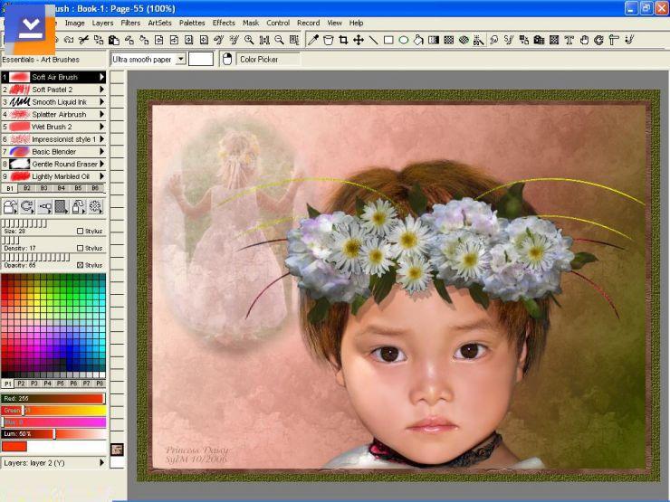 Twistedbrush Open Studio Indir ücretsiz Resim Boyama Programı