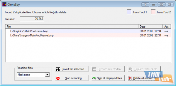 CloneSpy Dosyaları Temizleme