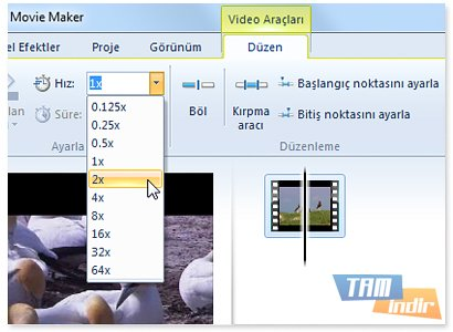 Movie maker video araçları