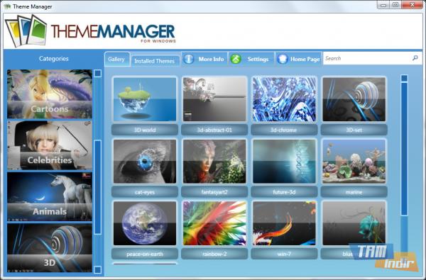 Theme Manager Ana Ekran