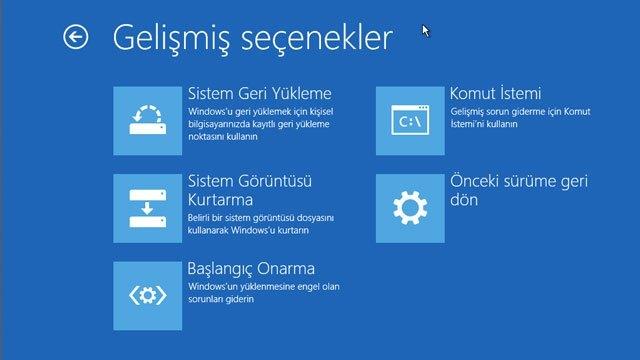 Windows 10 önyükleme seçenekleri nasıl aktif edilir