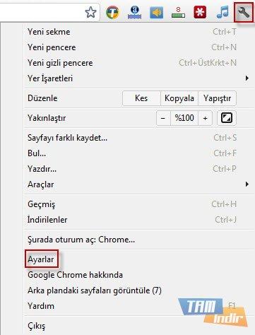 Chrome için Anasayfa Değiştirme 1