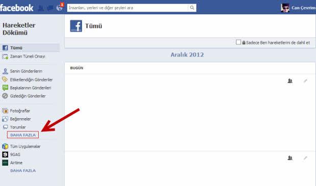 facebookta arama kaydi nasil silinir