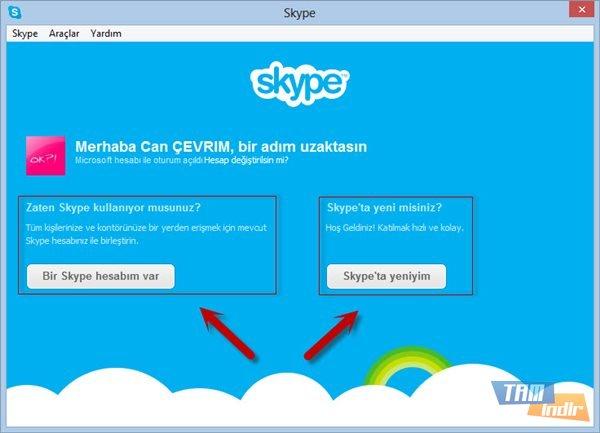 Skype Oturum Açma Seçenekleri