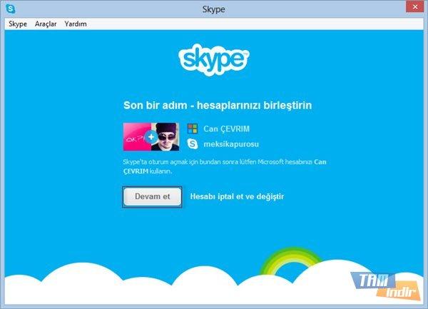 Skype ve Microsoft Hesabı Birleştirme