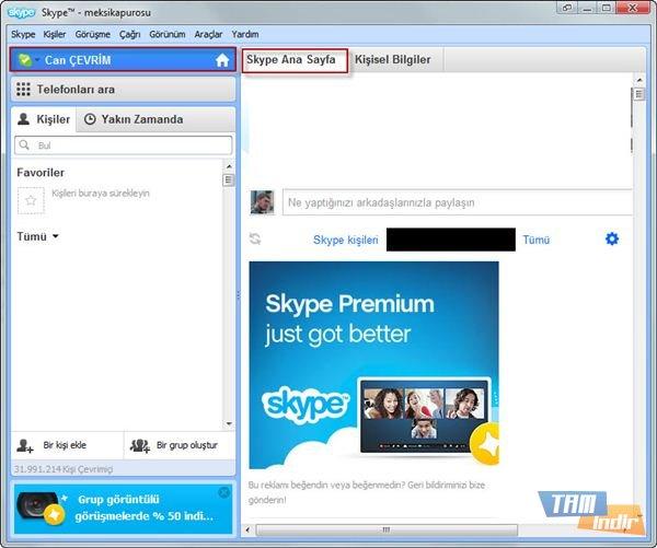 Skype Facebook Entegrasyonu