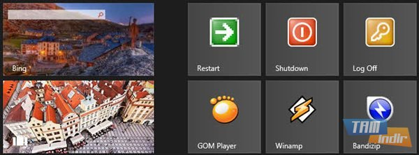 windows 8 başlangıç ekranı