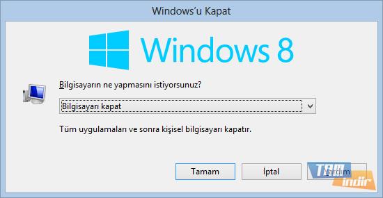 Windows 8 Hızlı Kapatma