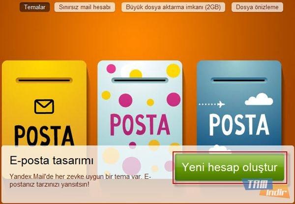 Yandex Mail Yeni Hesap Oluştur