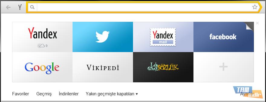 Yandex Browser Akıllı Satır