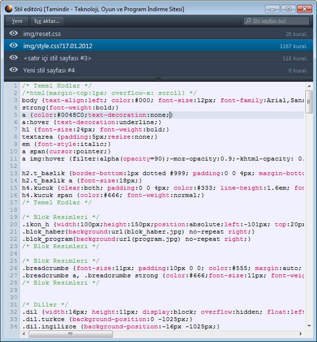 Mozilla Aurora Stil Editörü
