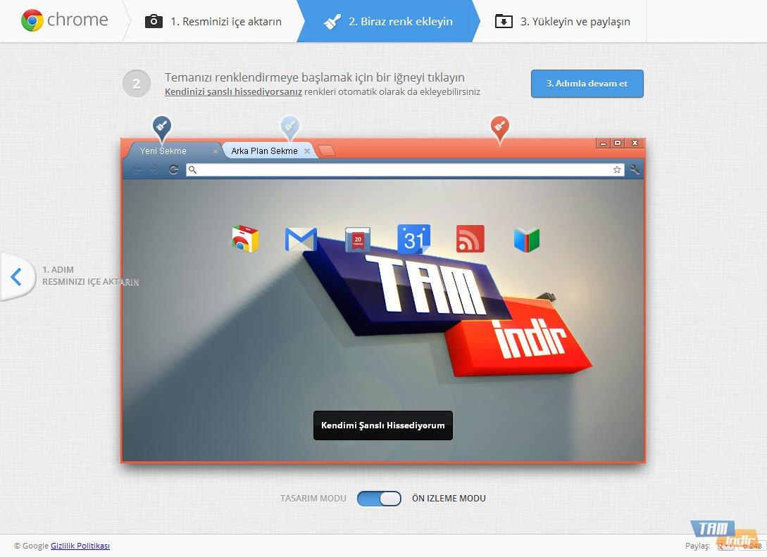 My Chrome Theme İndir - Google Chrome Tema Hazırlama Aracı