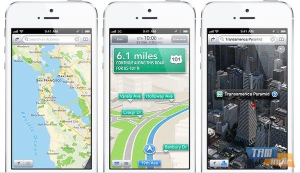 iPhone 5 iOS 6 harita