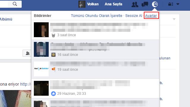 facebook takip etme bildirim