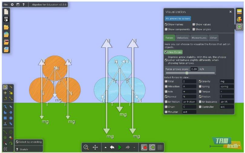 Algodoo İndir - Sanal Deneylerle Fizik Öğrenme Programı