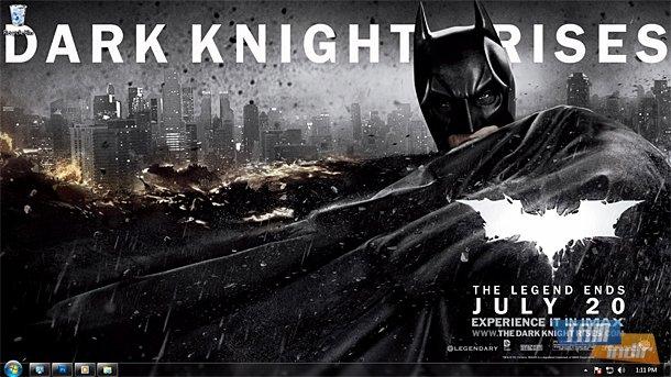 Dark Knight Rises Windows 7 Theme