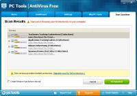 PC Tools AntiVirus Tarama Sonuçları
