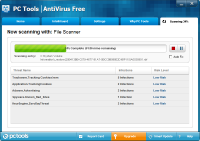 PC Tools AntiVirus Tarama