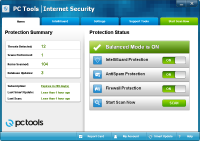 PC Tools Internet Security Ana Ekran