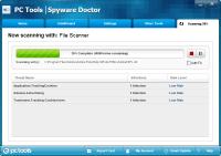 Spyware Doctor Tarama Ekranı