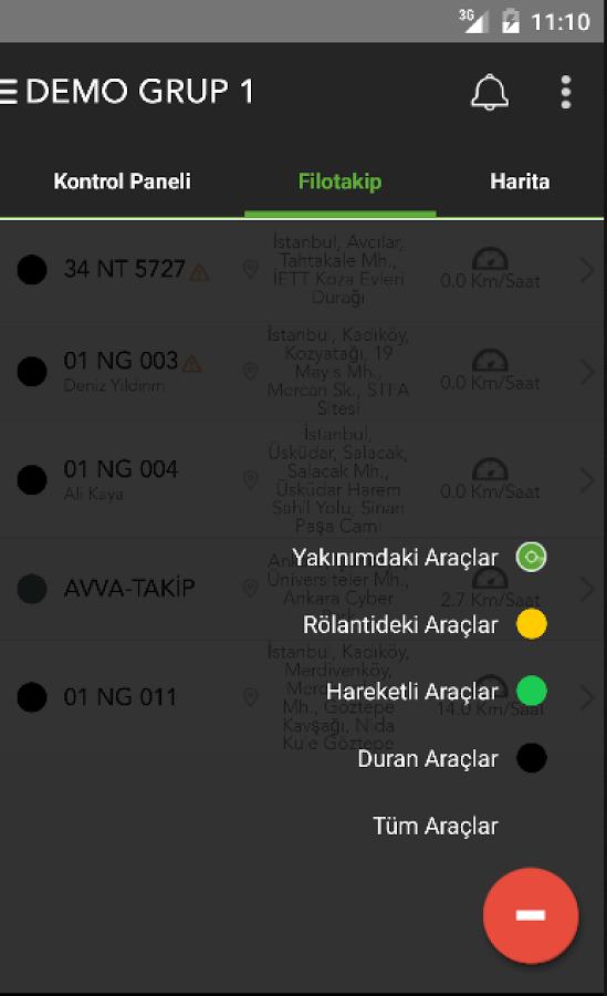 FiloTürk uygulaması, Android cihazlarınızdan araç filonuzu takip etmenize imkan tanıyor.